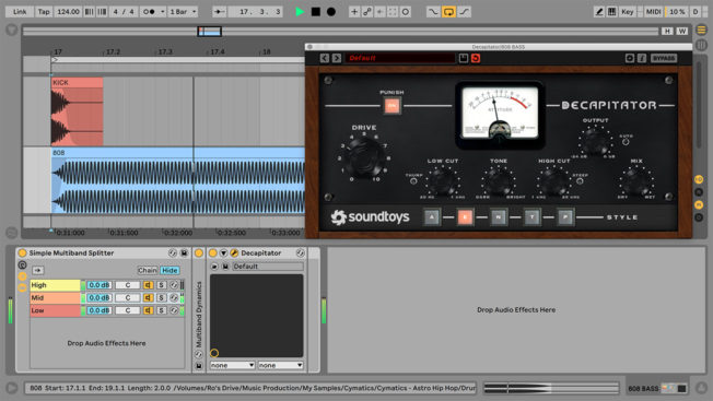 808 Distortion with Soundtoys Decapitator