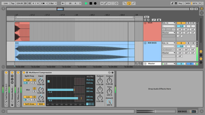 808 Multiband Compression in Ableton Live