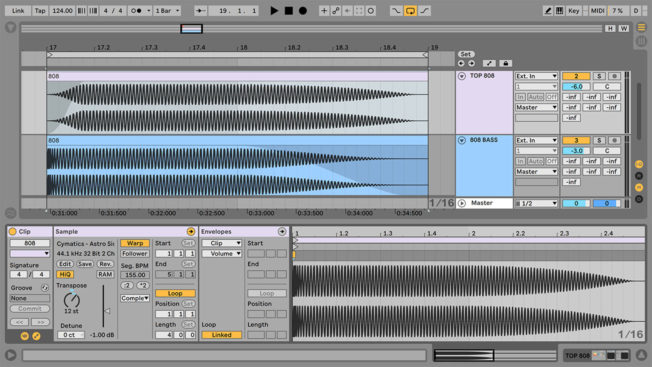 808 Octave Layer in Ableton Live