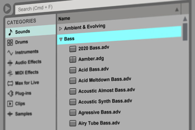 Ableton File Types