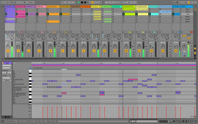 Ableton Live 10 Session View