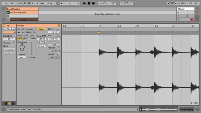 Ableton Live Activate Warping