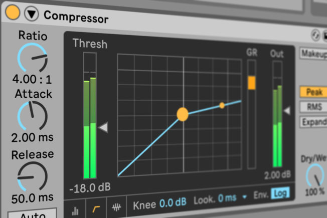 Ableton Live Audio Compressor Ratio