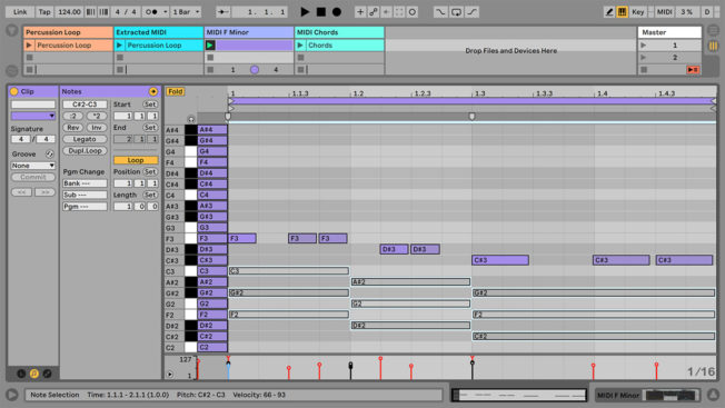 Ableton Live Deactivate MIDI Notes