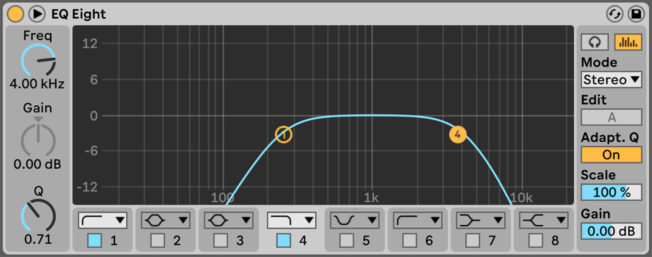 Ableton Live EQ Eight Band Pass