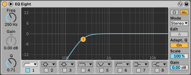 Ableton Live EQ Eight Low Cut