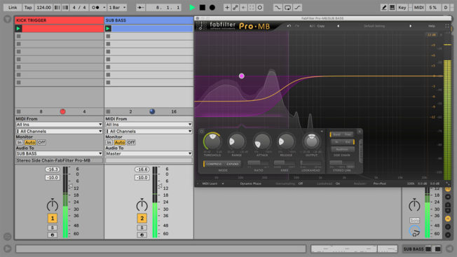 Ableton Live and Fabfilter Pro-MB