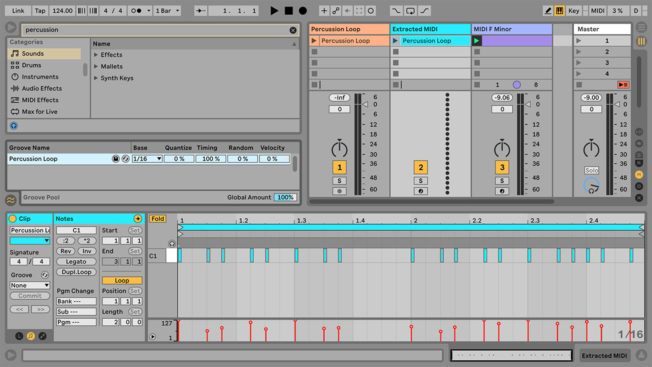 Ableton Live Extract Groove