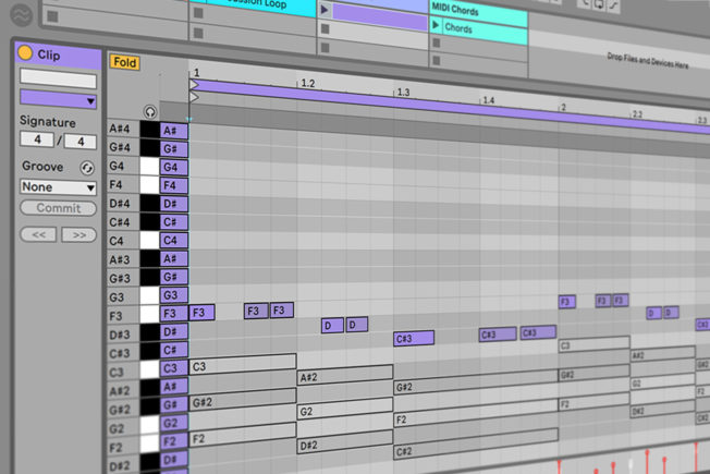 Ableton Live MIDI Notes Editing