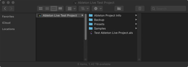 Ableton Live Project Folder