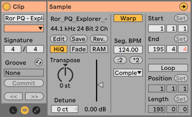 Ableton Live Save Default Clip