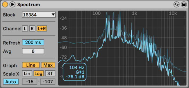 Ableton Live Spectrum Analyzer