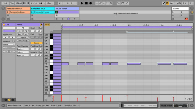 Ableton Live Stretch MIDI Notes