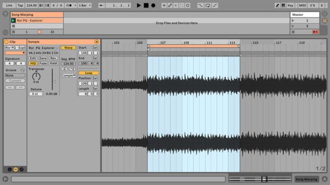 Ableton Live Warped Track Analysis