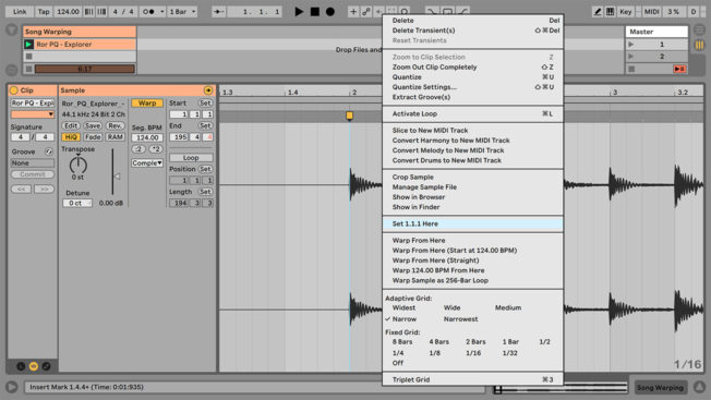 Ableton Live Warping Set 1.1.1 Here