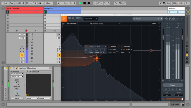 Ableton Live and iZotope Neutron Equalizer