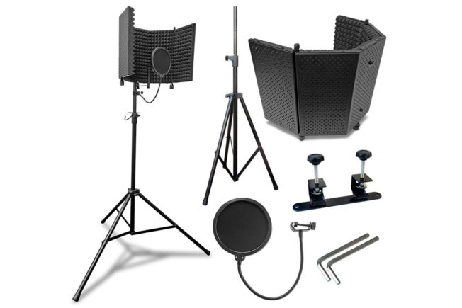 AxcessAbles SF-101KIT-W Microphone Isolation Shield