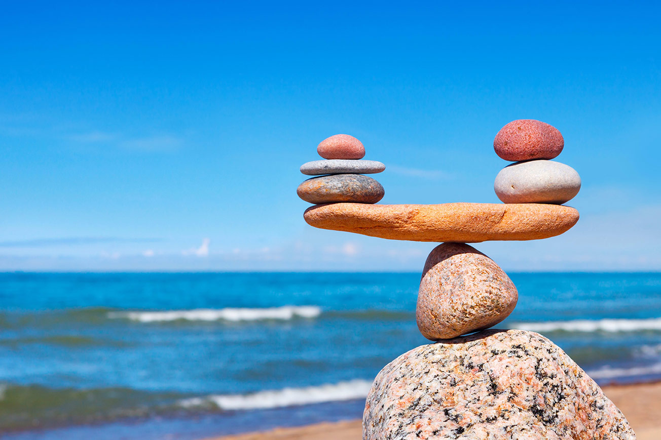 Balance Stones on Beach - Find Your Center