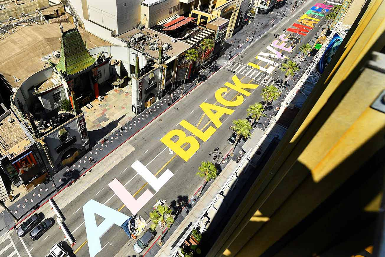 Black Lives Matter Painted on Street