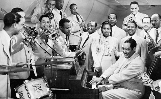 Duke Ellington and Jazz Band Playing Instruments