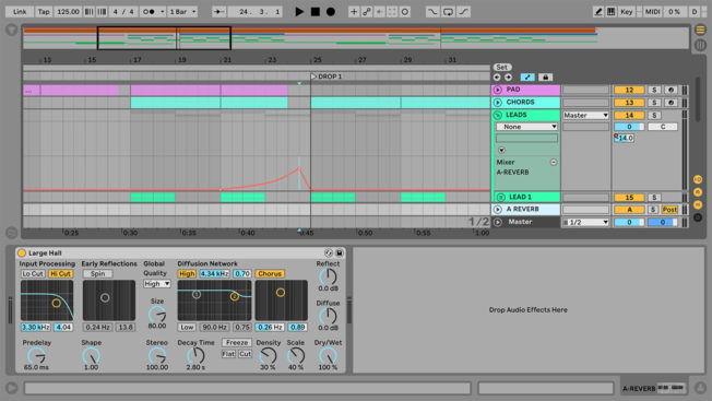 Ableton Live Reverb Swell Automation