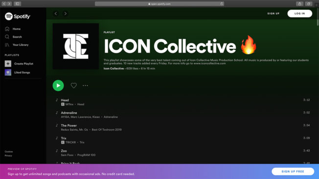 Icon Collective Spotify Playlist