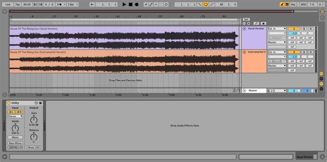 isolate vocals Ableton Live