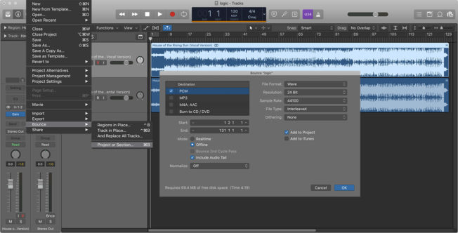isolate vocals logic pro