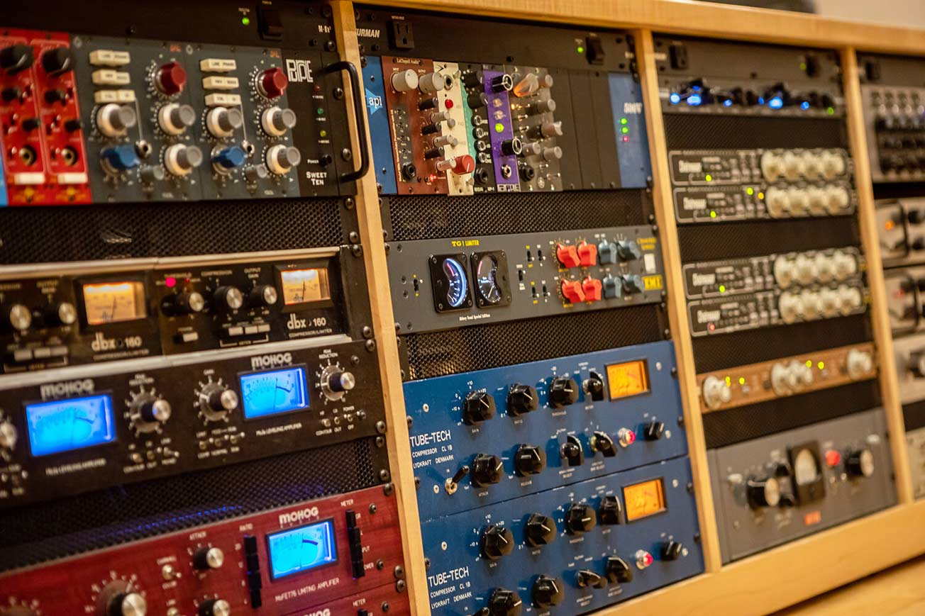 June Audio Recording Studios Equipment Rack