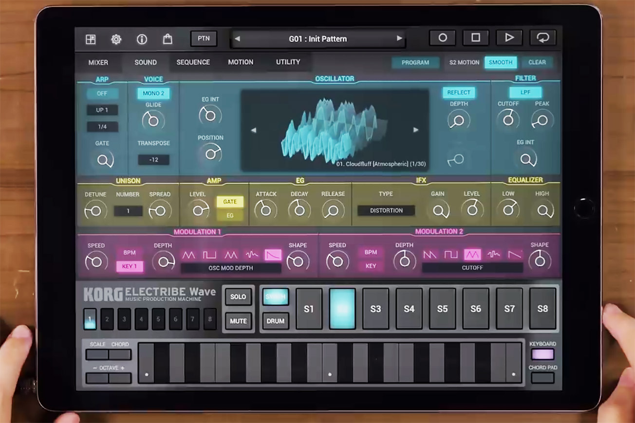 Korg Electribe Wave on iPad