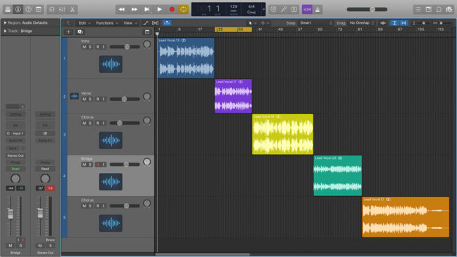 Logic Pro X Composite Vocal Tracks