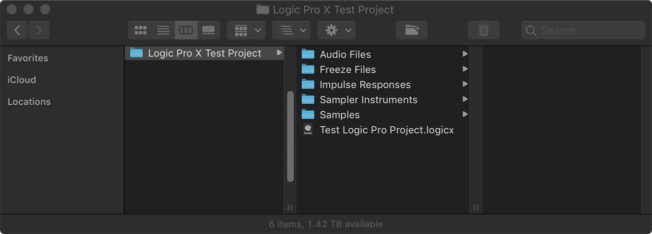 Logic Pro X Project Folder