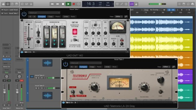 Logic Pro X Reverb and Compressor Plugins
