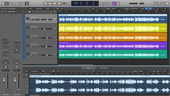 Logic Pro X Vocal Takes
