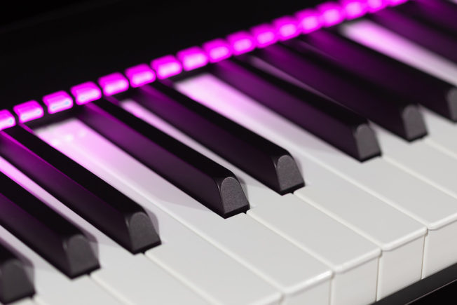 Midi Keyboard with Neon Lights - Best Key for a Song