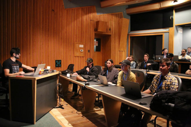 Students Learning at Icon Collective Music Production School