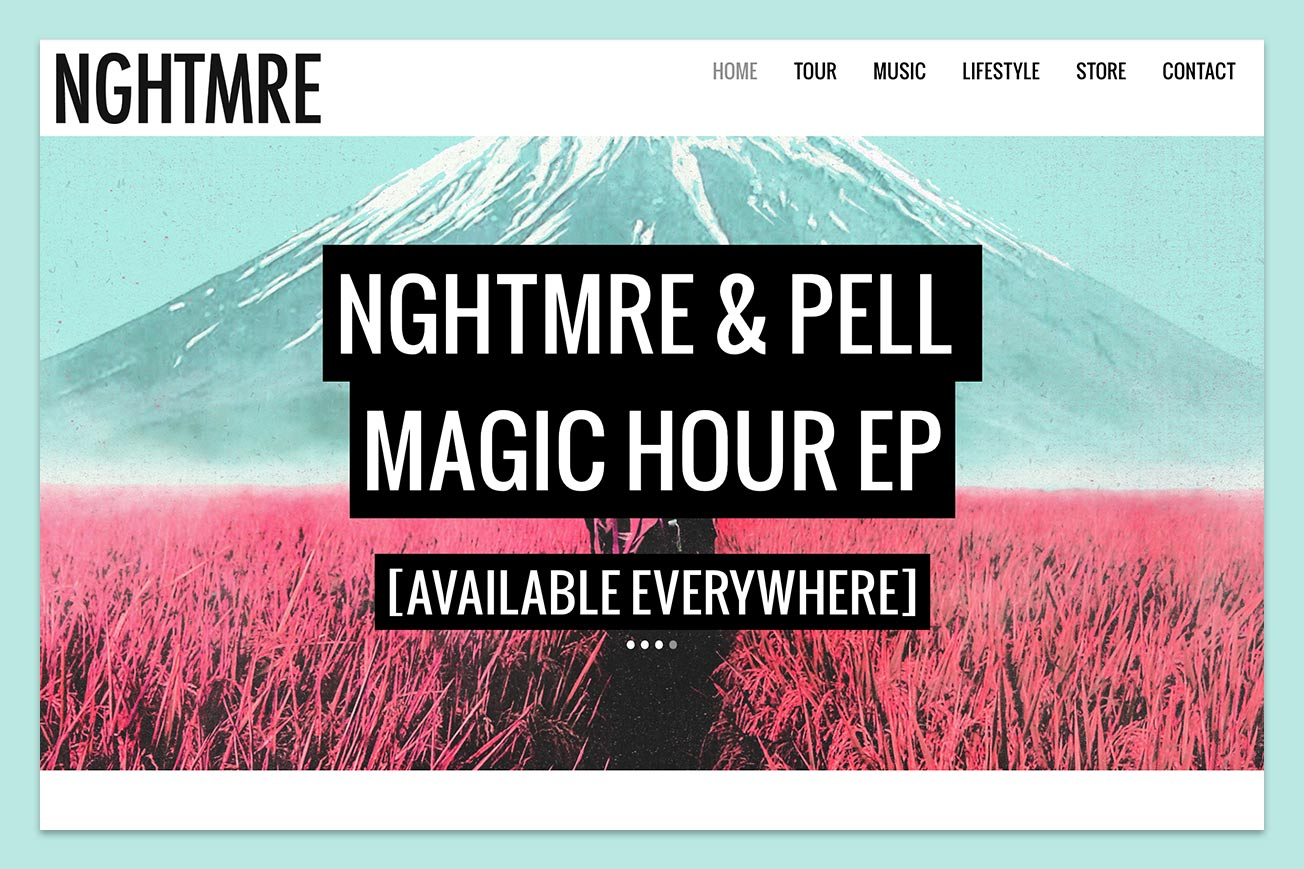 NGHTMRE Music Website