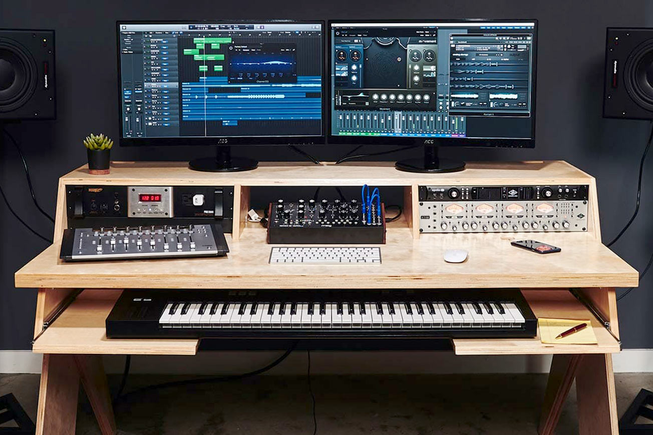 Best Computer For Music Production 2021 10 Best Studio Desks For Music Production | Icon Collective