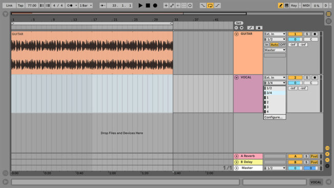 Ableton Live Audio Track