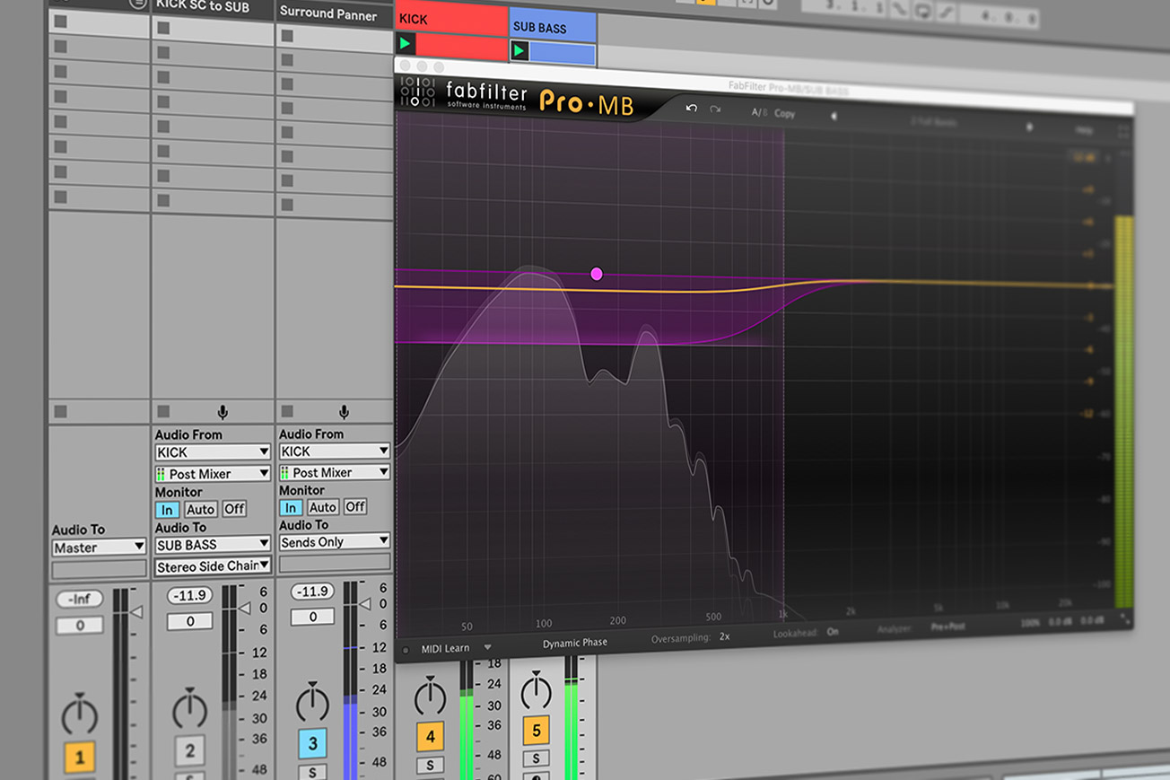 Fabfilter Pro-MB - How to Sidechain in Ableton Live
