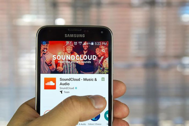SoundCloud App on Phone