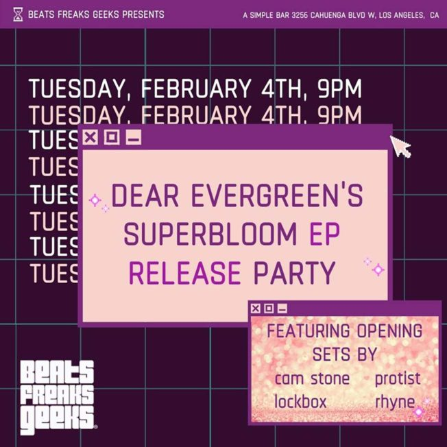 Superbloom EP Release Party Flier