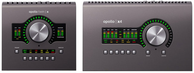 Universal Audio Apollo x4 and Twin X Audio Interfaces