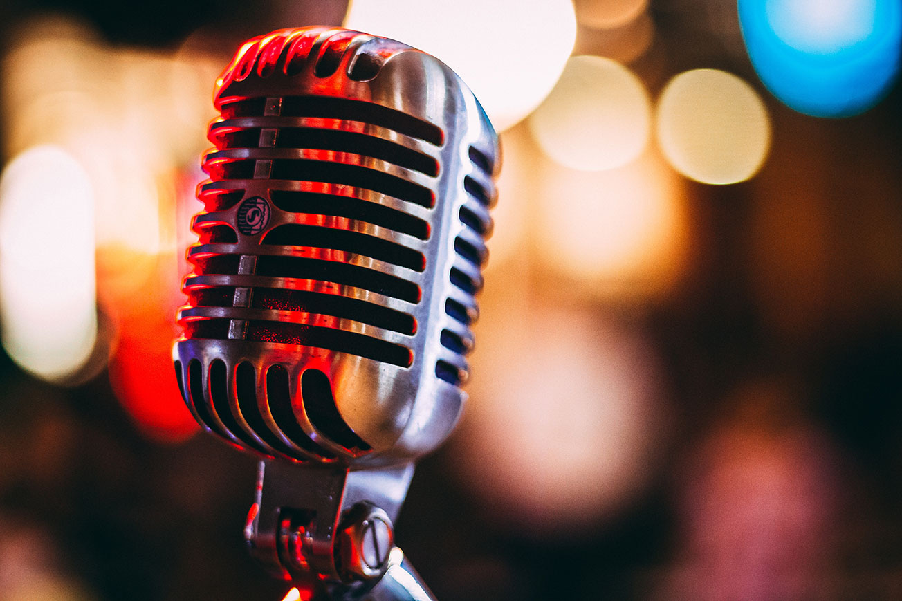 Vintage Microphone - Neighboring Rights