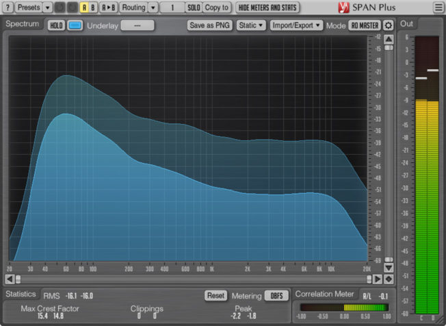 Voxengo SPAN Frequency Response