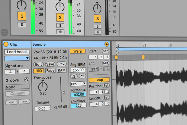 Warping Vocals in Ableton Live
