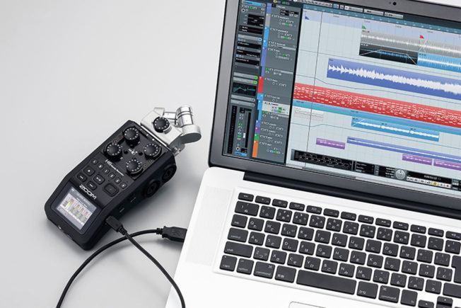 Field Recordings - Zoom H6 Recorder and Laptop