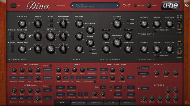 u-he Diva Synth Plugin